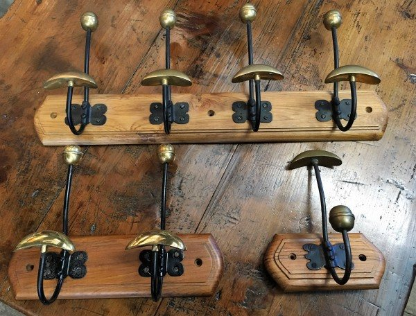 Brass Mounted Hat & Coat Hooks