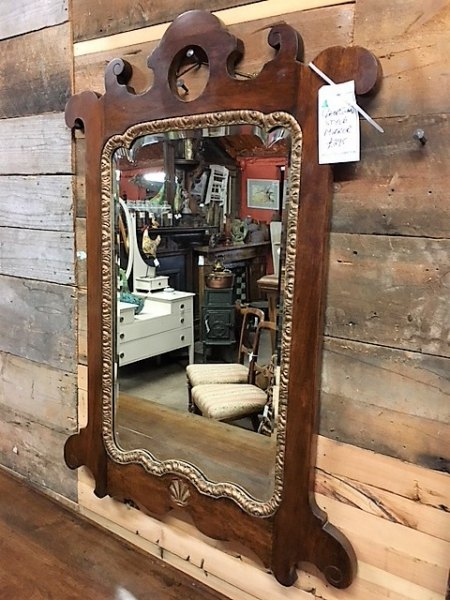 Georgian Style Oak Mirror