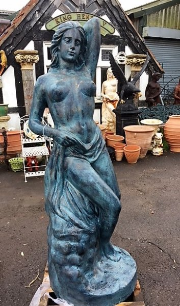 Cast Iron Statue of a Nude