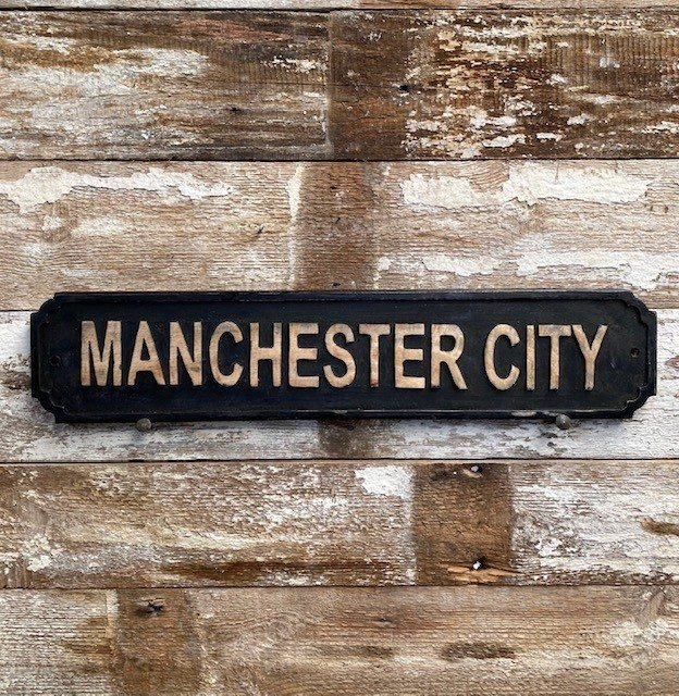 Wooden Sign (Manchester City)