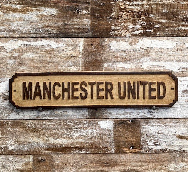 Wooden Sign (Manchester United - natural)