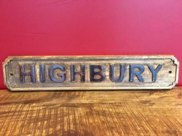 Wooden Sign (Highbury)