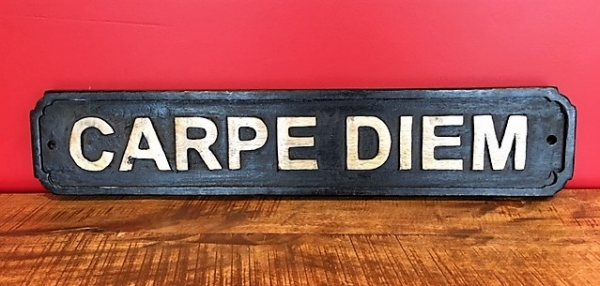 Wooden Sign (Carpe Diem)