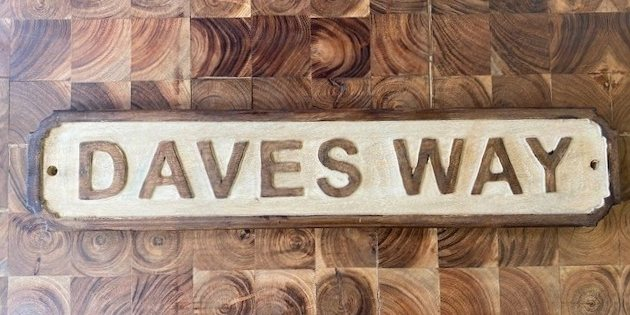 Wooden Sign (Daves Way)