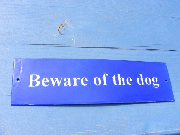 Enamel Sign (Beware of the Dog)