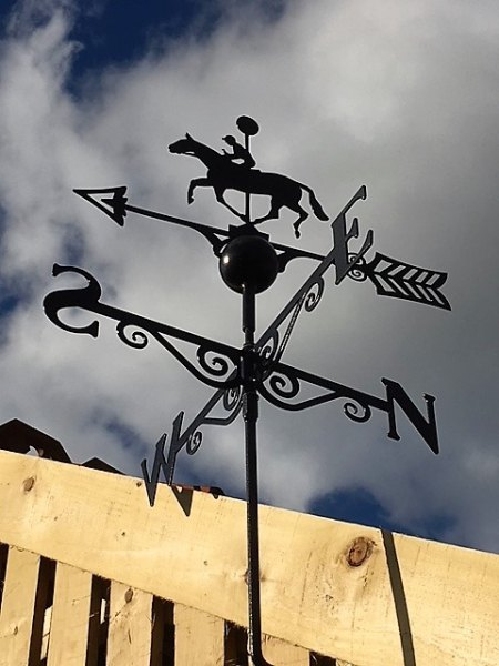 Black Weathervane (Horse & Jockey)