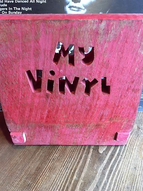 Wooden 'My Vinyl' Record Stand