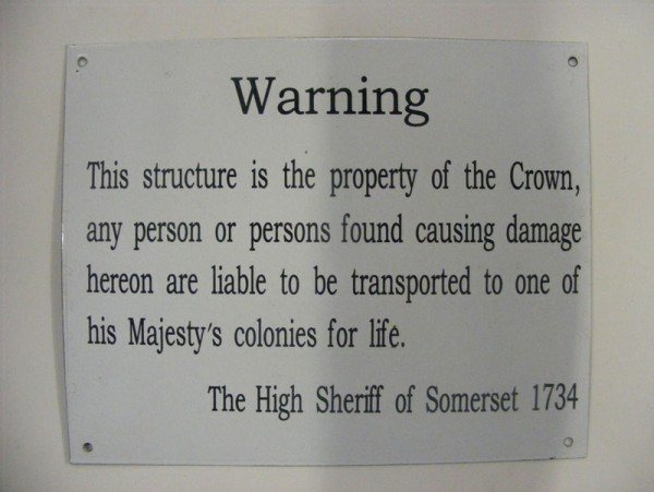 Enamel Sign (Property of the Crown)