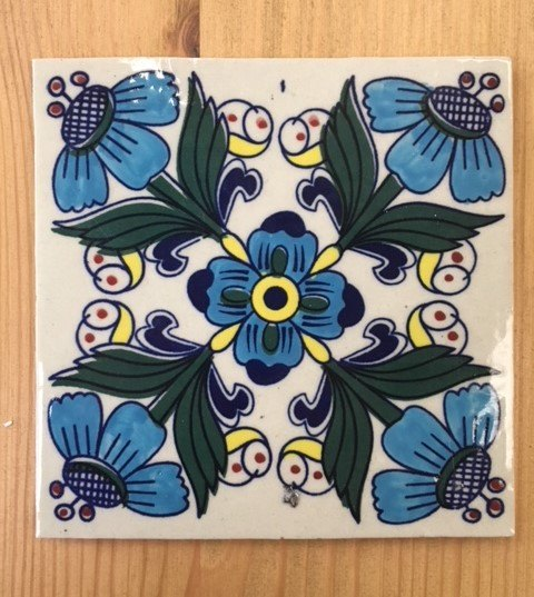 Wall Tile (Passion Flower)