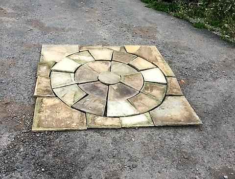 Stone Patio Circle Kit 1.75m2 (Cotswold Fossil Mint)