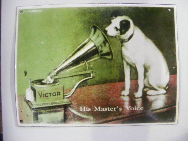 Enamel Sign (His Masters Voice)