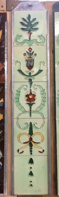 Fireplace Tile Set (Wreaths & Bows)