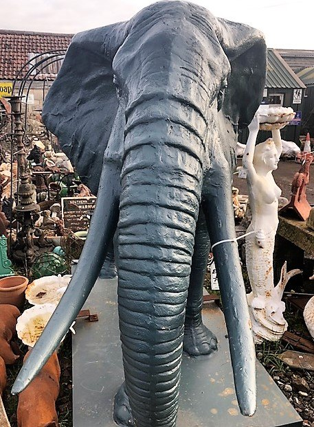 Cast Iron African Elephant