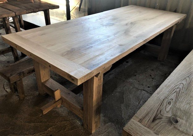 Rustic Oak Table & Benches
