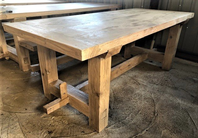 Solid Oak Refectory Table (2.1m)
