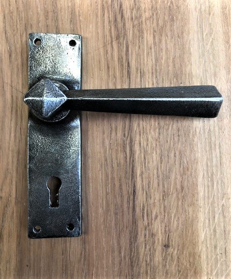 Pair of Pewter Handles (With Key Hole)
