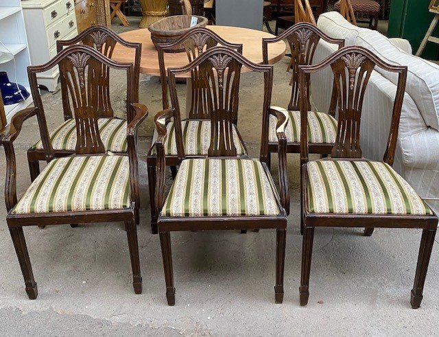Set of 6 Victorian Mahogany dining chairs
