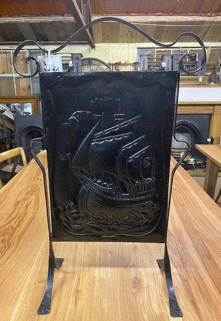 Vintage 'ship' fire screen