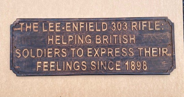 Wooden sign  (Lee Enfield)