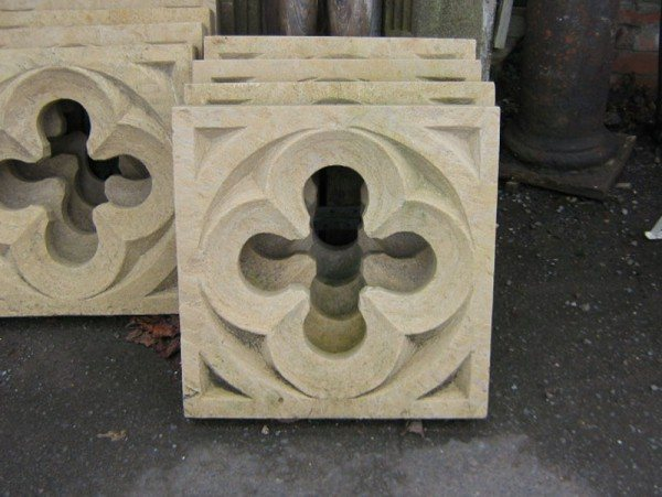 Stone Quatrefoil Window